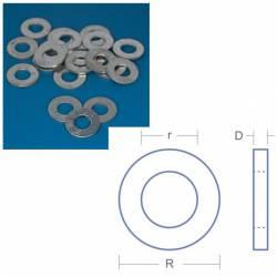 Arandela de acero (x20), M3.