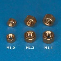 Tuercas de latón M1,6 (x20). RB 107-16