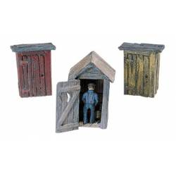 3 Outhouses and Man. WOODLAND D214