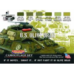 Set U.S. Olive Drab. LIFECOLOR CS11