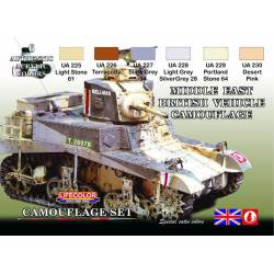 Middle East British vehicle camuflage set. LIFECOLOR CS16