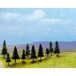 10 pine trees with roots. BUSCH 6509