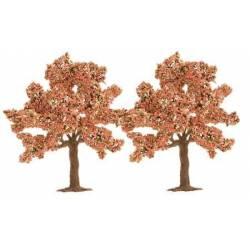 2 árboles ornamentales 45 mm.