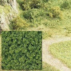 Flocado grueso verde.