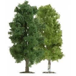 2 árboles de hoja caduca 115 mm.