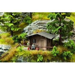 Cabaña forestal.