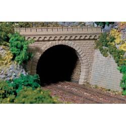 Boca de túnel de doble vía.