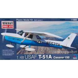 Avioneta Cessna 150, USAF T-51A. MINICRAFT 11666