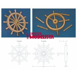 Wooden ship's wheel. 8 spokes. RB 131-47