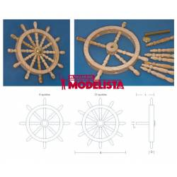 Wooden ship's wheel. 12 spokes. RB 131-54