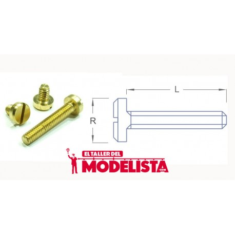 Tornillo de latón M2,0 - 4 mm (x50). RB M20-04
