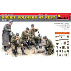 Soviet soldiers at rest.