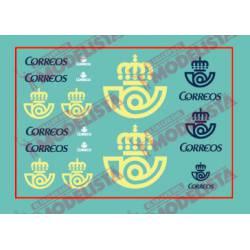 Modern Correos logos.