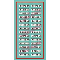 Spanish car license plates. Type I. ETM 9004