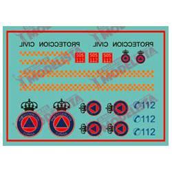 Calcas para vehículos de Protección Civil. ETM 9005