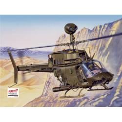 Helicóptero Bell OH-58D Kiowa. ITALERI 2704