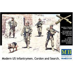 Modern US infantrymen. Cordon and Search.