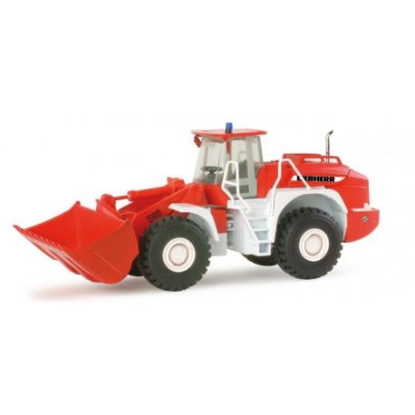 """Liebherr wheel loader L 580 """"fire department"""". HERPA 156271"""