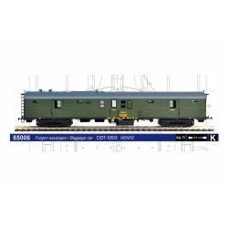 Furgón equipajes RENFE con calderín, DDT-5003. MABAR 85006