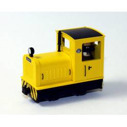 Locomotora diesel Gmeinder, amarilla. MINITRAINS 5015