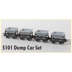 4 tipper cars. MINITRAINS 5101