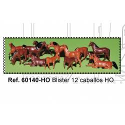 Blister de 12 caballos. MABAR 60140-H0