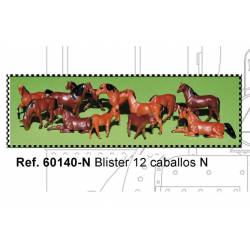 Blister de 12 caballos. MABAR 60140-N