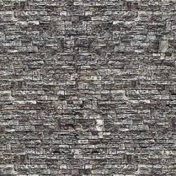 Muro de piedra de basalto.