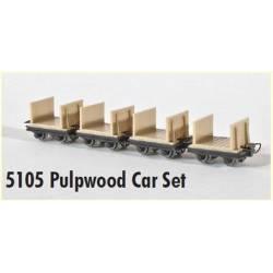 4 pulpwood cars. MINITRAINS 5105