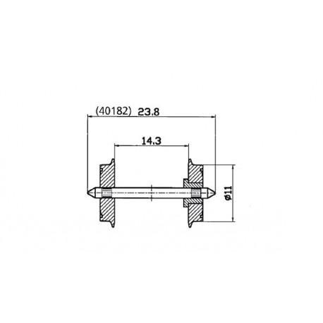 Set de ejes (x2), DC. ROCO 40182