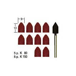Lijas cónicas con vástago (x10). PROXXON 28987
