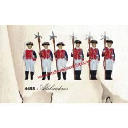 Guardia Real: alabarderos.
