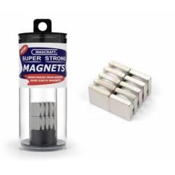 Imanes cuadrados. 12 x 12 x 3 mm (x10). MAGCRAFT NSN0911