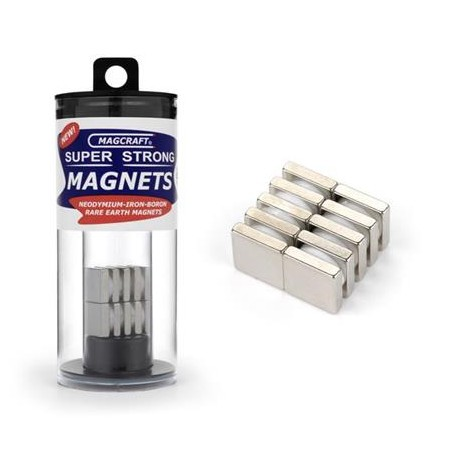 Square magnets. 12 x 12 x 3 mm (x10). MAGCRAFT NSN0911