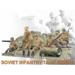 Soviet infantry tank riders.