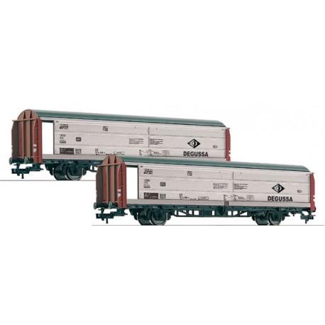 2-set sliding wall boxcars Degussa, DB. FLEISCHMANN 533708