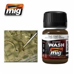 Enamel Wash: Brown for German Dark Yellow. 35 ml. AMIG 1000
