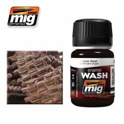 Enamel Wash: Tracks for Dark Rust Effects. 35 ml. AMIG 1002