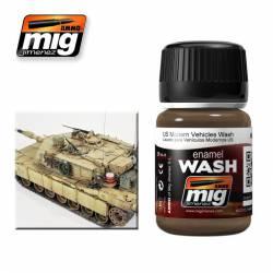 Enamel Wash: Dirt for US Modern Sand Vehicles. 35 ml. AMIG 1007