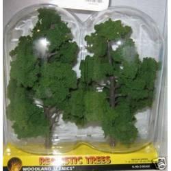 Dos árboles hiper realistas 200-220 mm.