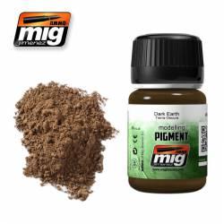 Pigmento tierra oscura. 35 ml. AMIG 3007