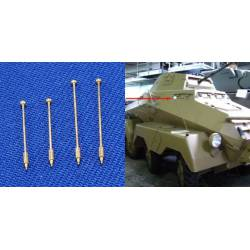 Outline markers for military vehicles.