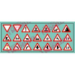 Road signs: Warning. ETM 9008