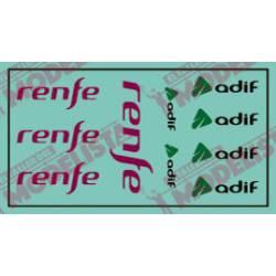 Modern Renfe and Adif logos. ETM 9006