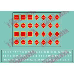 Indicadores de transporte rojos. ETM 8002
