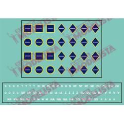 Indicadores de transporte azules. ETM 8003