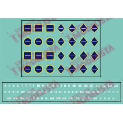 Transport indicators, blue. ETM 8003