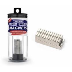 Imanes cuadrados. 6,4 x 6,4 x 2,5 mm (x50). MAGCRAFT NSN0610