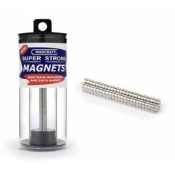 Imanes circulares. 3,2 x 1,6 mm (x100). MAGCRAFT NSN0566
