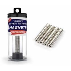 Imanes cilíndricos. 6,4 x 6,4 mm (x20). MAGCRAFT NSN0548